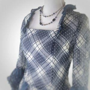 Vintage Handmade Semi-sheer Formal Dress
